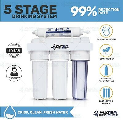 Portable/replacement Reverse Osmosis Water Filter Systems 5 Stage 100 Gpd