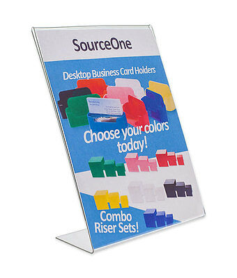 """5 Acrylic 8-1/2"""" x 11"""" Slanted Sign Holders Low Price Guarantee FREE SHIPPING"""