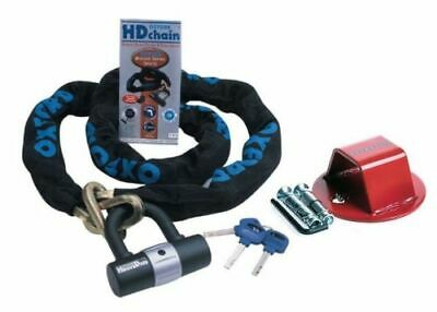 RS GROUND ANCHOR & OXFORD H/D CHAIN LOCK 1.0m SOLD SECURE MOTORCYCLE SECURITY