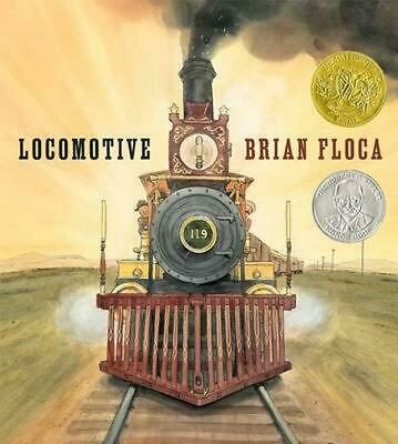 Locomotive by Brian Floca (English) Hardcover Book Free Shipping!