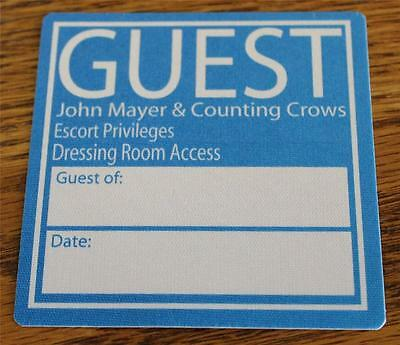 Vintage & Genuine John Mayer & Counting Crows Blue Escort OTTO Backstage Pass
