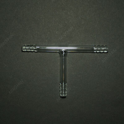 Lab glass T Connector Tube,10MM Hose Connection,Length of the Arm is 60MM