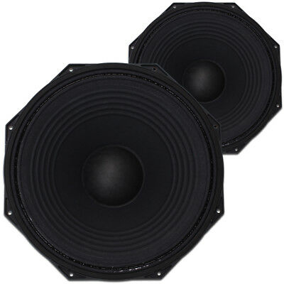 """2x Citronic 15"""" Subwoofer Speaker Drivers Spare Replacement Parts 2200W"""