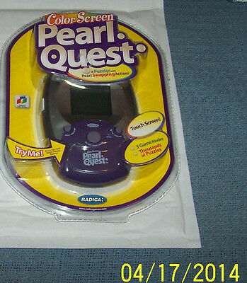 Radica Pearl Quest Color Screen Electronic Handheld Game Touch Screen - New