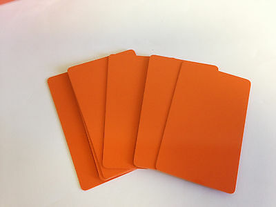 50 x CR80 .30 Mil Graphic Quality Orange PVC Credit Card ID PRINTER Sealed