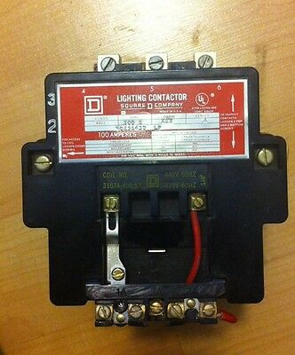 Square D Lighting Contactor 100 Amps, 3 Pole