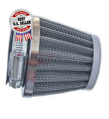 """Air Filter 42mm 1 5/8"""" Straight Pod Cone ~ US Seller."""