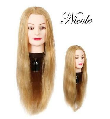 "NEW 24"" Cosmetology Mannequin Normal Size Head Female 100% Human Hair Art Blonde"