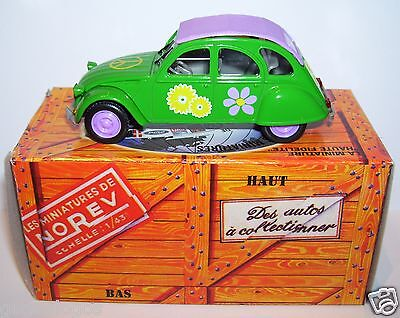 Rare Norev Hachette Citroen 2Cv 6 1974 Peace And Love 1/43 In Box