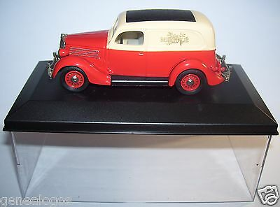 Rextoys Ford V8 1935 Chocolat Nestle Rouge Creme In Box 1/43