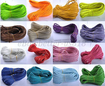 2M Man-made Leather Braid Rope Hemp Cord For Necklace Bracelets 10 Colours