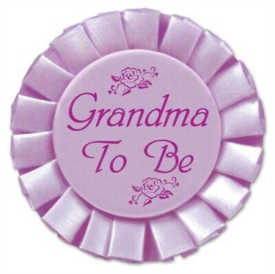Baby Shower Grandma To Be Satin Button