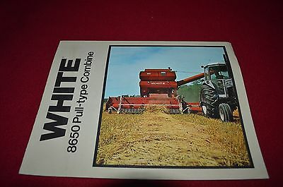 Oliver White Tractor 8650 Pull Type Combine Dealer's Brochure DADS