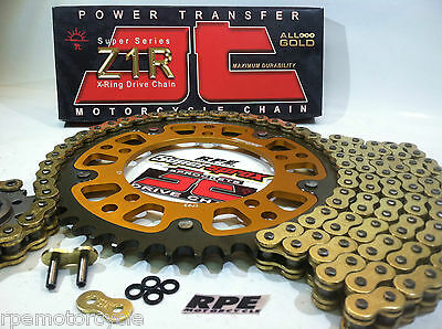 KAWASAKI Z1000 '10-17 SUPERSPROX GOLD CHAIN AND SPROCKETS KIT  * OEM, QA or Fwy