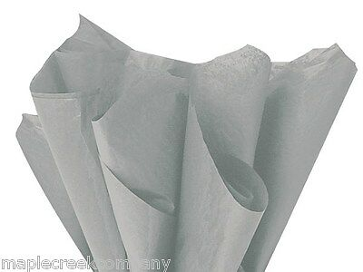GRAY Tissue Paper ~ 24 sheets ~FOR CRAFTING & GIFT BAGS Premium Quality