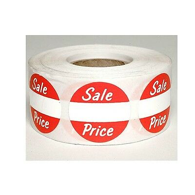 "500 Self-Adhesive Sales Price Round Retail Labels 1"" Stickers Tags - Sale Price"