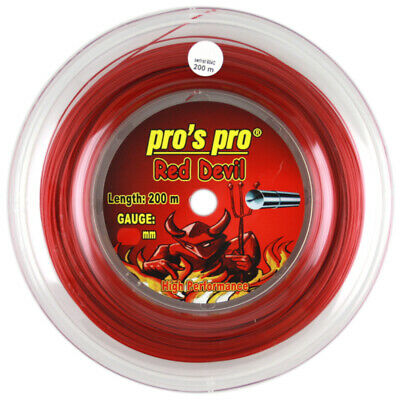 Pro's Pro Red Devil - Red - Tennis String 200m Strings - Free UK P&P