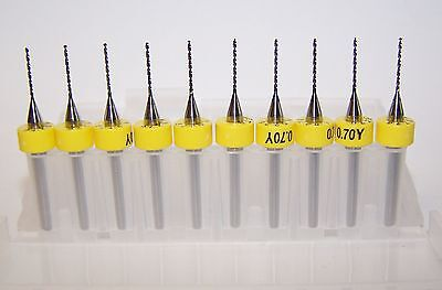 "Printed Circuit Board Drills .1240/"" 10 - carbide 450-1240.400 PCB 3.15mm"