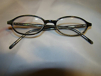 26a624c7f1 PRE-OWNED AUTHENTIC VALENTINO eyeglass frames ITALY oval with gray green  flecks