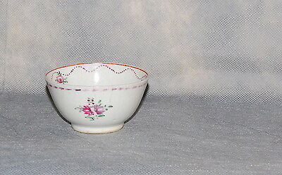 Chinese Export Porcelain Famille Rose Floral Tea Cup Antique
