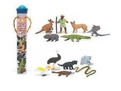 Safari Ltd 681404 Australien Leben Down Under 11 Minifiguren Serie Tubos-Röhren