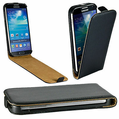 Genuine Real Leather Flip Case for Various Samsung Galaxy Models