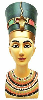 Large Egyptian Queen Nefertiti Royal Bust Mask Sculpture New Kingdom Figurine