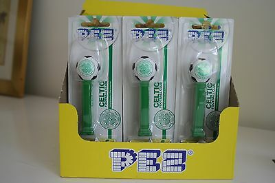 Celtic Fc Pez Dispenser Plus 2 Packs Of Sweets Party Bags Unopened