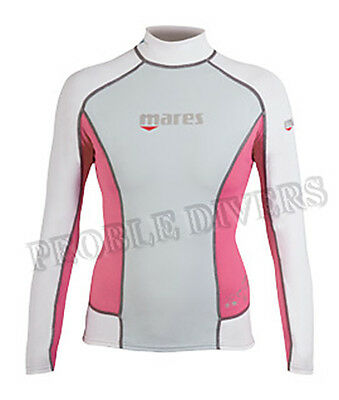 Mares Lady Trilastic Rash Guards Long Sleeve undersuit top New swim or scuba