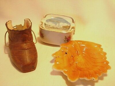 Vintage....Lot..Of...3...Ceramic.....Figural.....Ashtray's....Japan