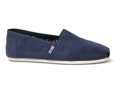 TOMS Mens Classics Canvas Espadrilles Navy Blue Various Sizes