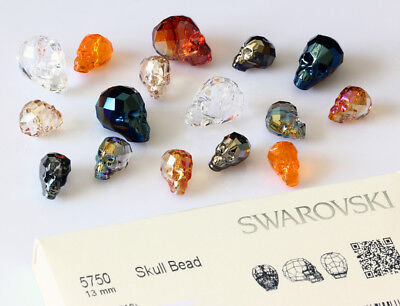 Genuine SWAROVSKI 5750 Skull Crystals Beads * Many Sizes & Colors