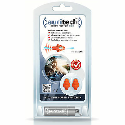 AURITECH BIKER Motor Cycle Motoring Bike Ear Plugs Ceramic Filter - FREE UK P&P