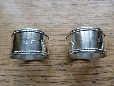 Pair Of Victorian Hallmarked Solid Silver Napkin Rings- London 1874- W.summers