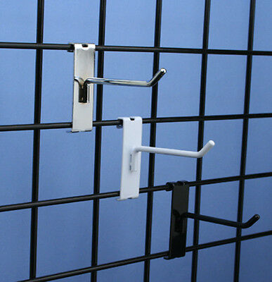 """4"""" Gridwall Grid Panel Metal Hook - White - 90 Pieces"""