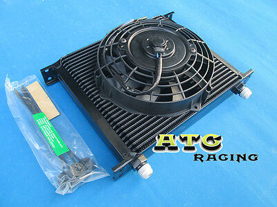 Universal 30 Row 10 AN Transmission Oil Cooler + fan