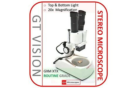 GX Microscopes 20x - 120x Binocular Illuminated Stereo Microscope, Ideal Gift