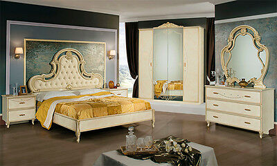 komplett luxus schlafzimmer set royale italienische stilm bel hochglanz qualit t eur. Black Bedroom Furniture Sets. Home Design Ideas