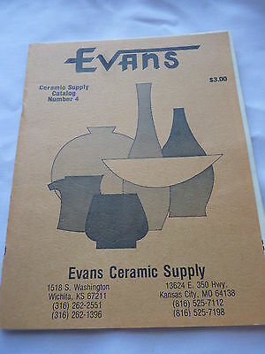 Evans Ceramic Supply 1981 Catalog with 4 inserts