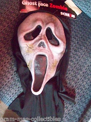 Ghost Face Zombie  Hooded Mask Face Ghost Facegray  One Size Fits Most
