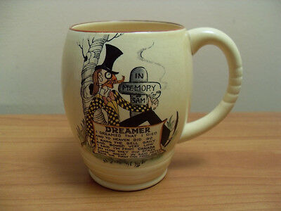 "CARLTON WARE ""DREAMER"" IN MEMORY OF SAM NOVELTY MUG CUP ENGLAND 1940's"