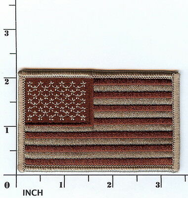 "United States American FLAG 3.5"" Desert TAN ! subdued PATCH Stars & Stripes! USA"
