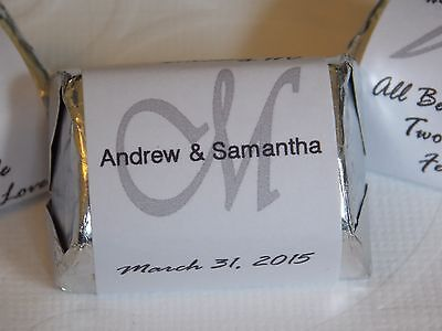 30 Personalized Monogram Wedding Shower Hershey Nugget Labels - Party Favors