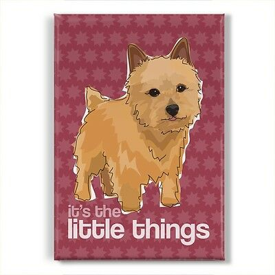Norwich Terrier Gifts Refrigerator Magnets with Cute Sayings - The Little Things