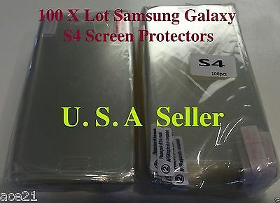 X100 HD Screen Protectors Samsung Galaxy S4 Wholesale Lot 100X Anti Scratches
