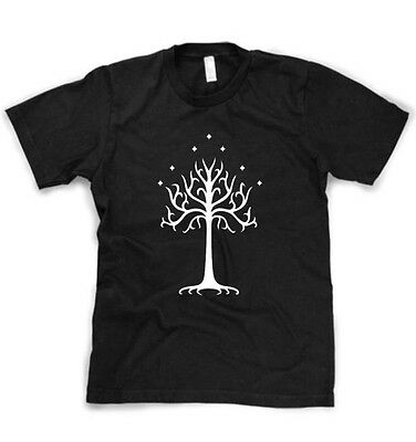 LORD OF THE RINGS WHITE TREE OF GONDOR MENS SHIRT S-3XL