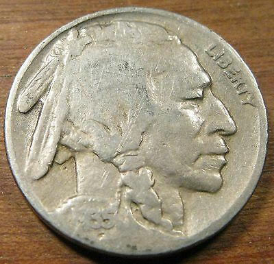 1935 Buffalo Nickel In Good to Very Good Circulated Condition #3
