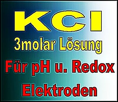 KCL Solution 3molar pour PH U. Redox électrodes 70 ml € 10,71/100ml