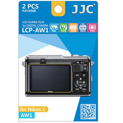 JJC LCP-AW1 ultra hard polycarbonate LCD Film Screen Protector Nikon 1 AW1 2pack