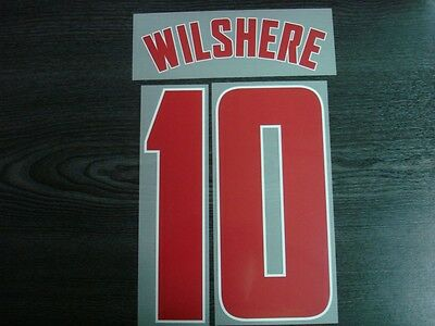 WILSHERE #10 Arsenal Away UCL 2012-13 PU Name Numbering PRINT